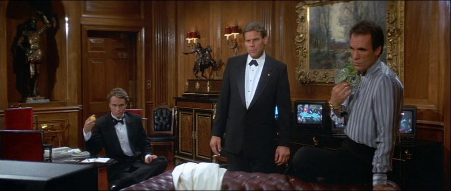 The office of villain Sanchez features a Blackamoor on the left