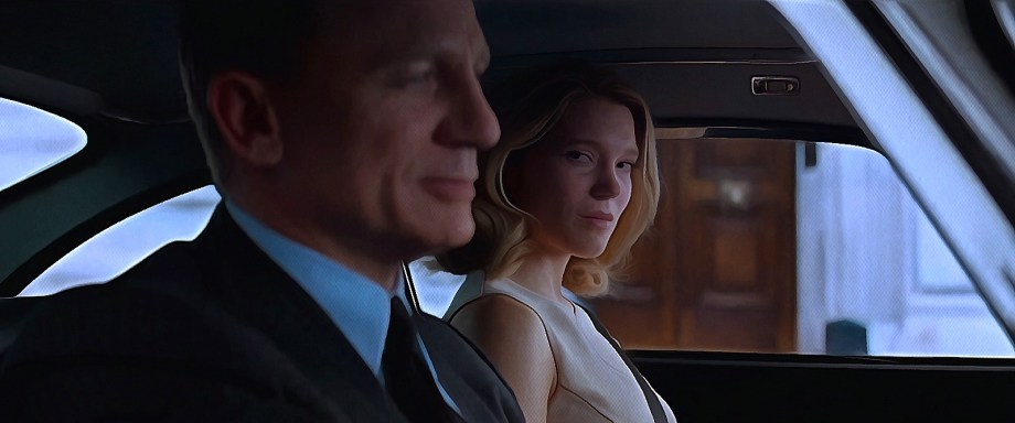 """James Bond (Daniel Craig) und Madeleine Swann (Léa Seydoux) in """"Spectre"""""""