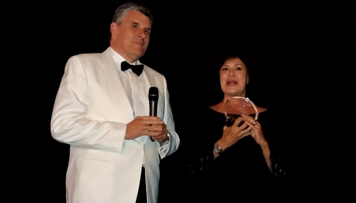 Corinne Cléry honored with James Bond Award at 7th Cineways Filmfestival