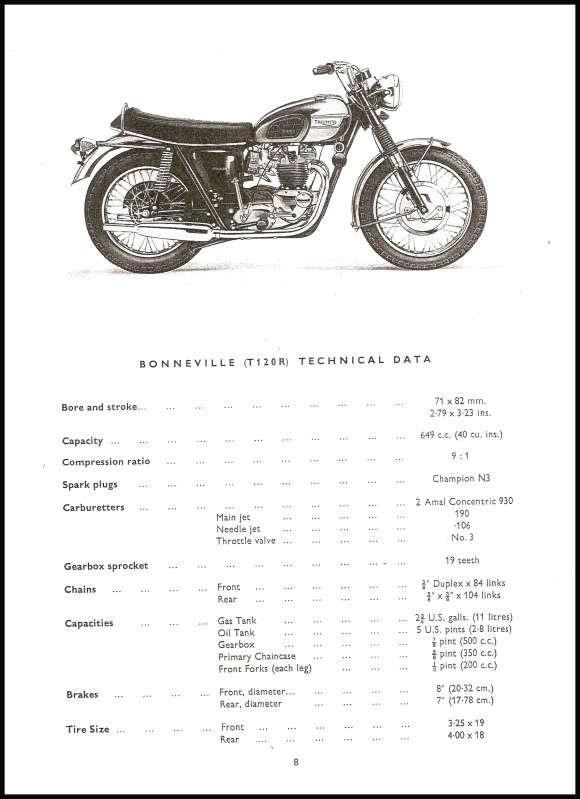 1969 TRIUMPH T120 BONNEVILLE, TR6 TROPHY PARTS BOOK #7 PN