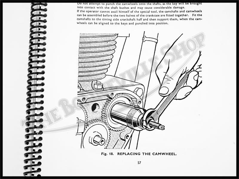 TRIUMPH 500 650 PRE-UNIT WORKSHOP MANUAL 1956-62 T100 T110