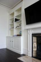 custom alcove cabinet unit built in media unit