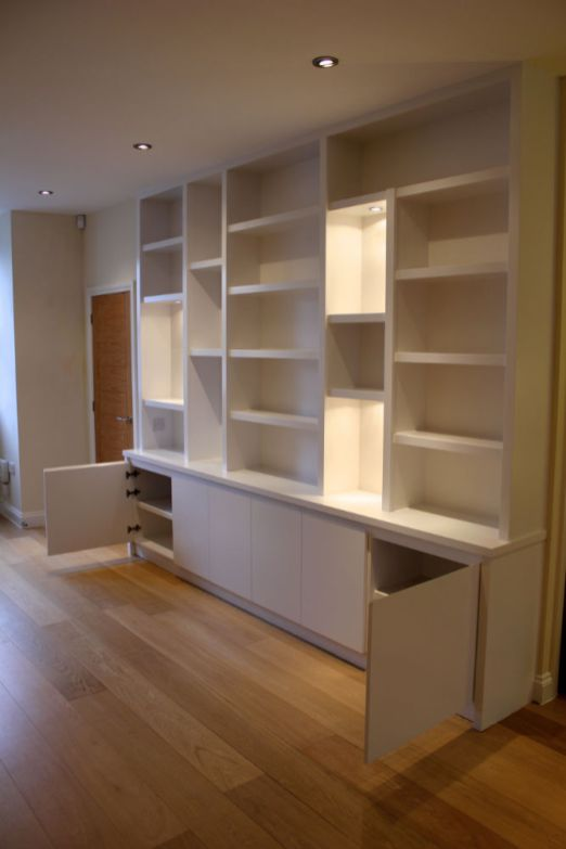 modern custom bookcase
