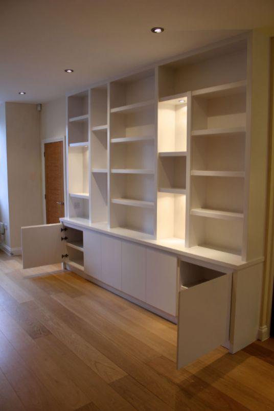 modern custom bookcase