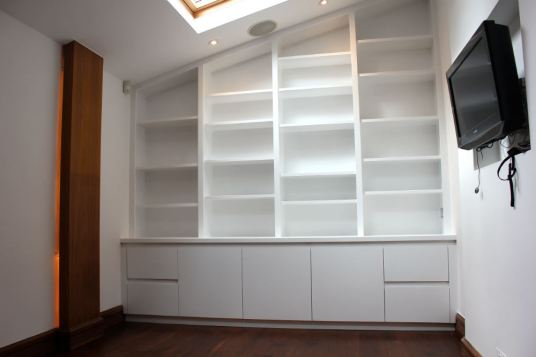 smart contemporary bookcase:cupboard storage in Barnes