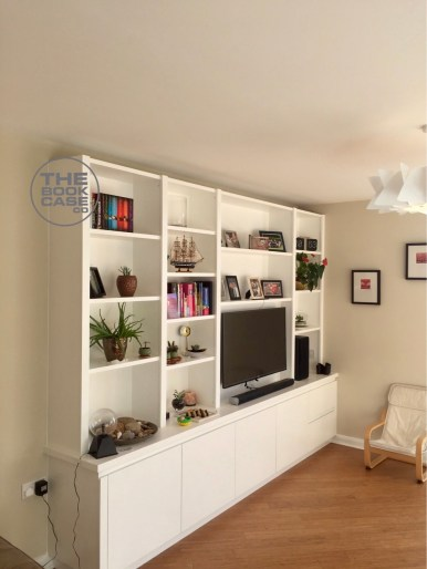 Contemporary media bookcase london