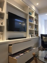 Media Unit with Drawer Storage