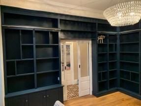 Custom built library shelving