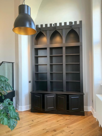 Gothic Style Freestanding Bookcase