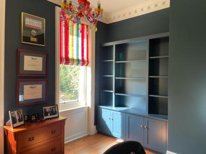 Custom built bookcase for client in Surrey