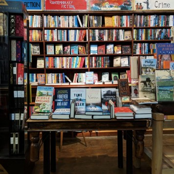 Book Display P&G Wells Booksellers