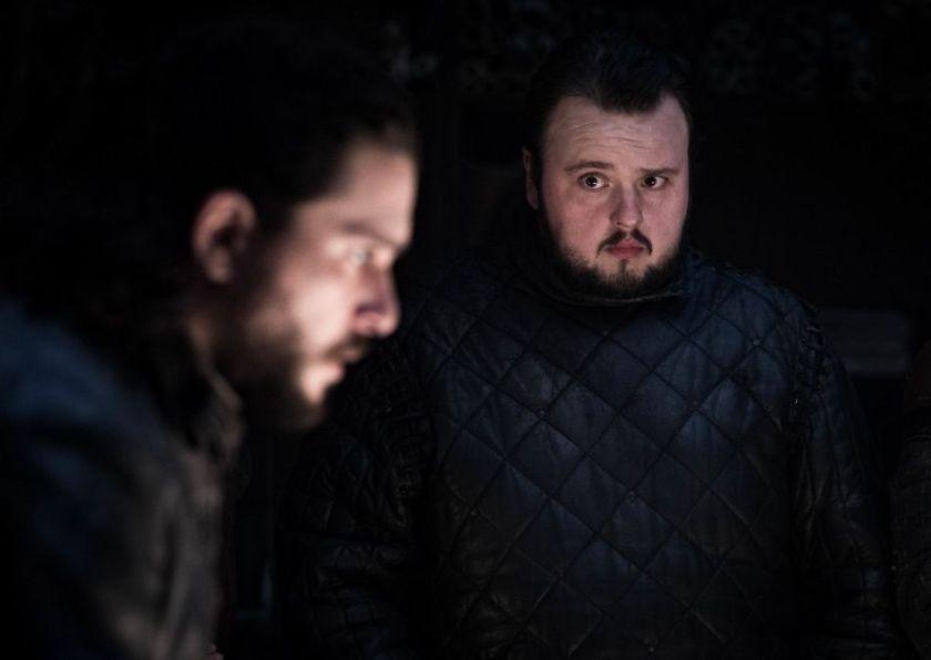 il trono di spade 8x1 Sam e Jon