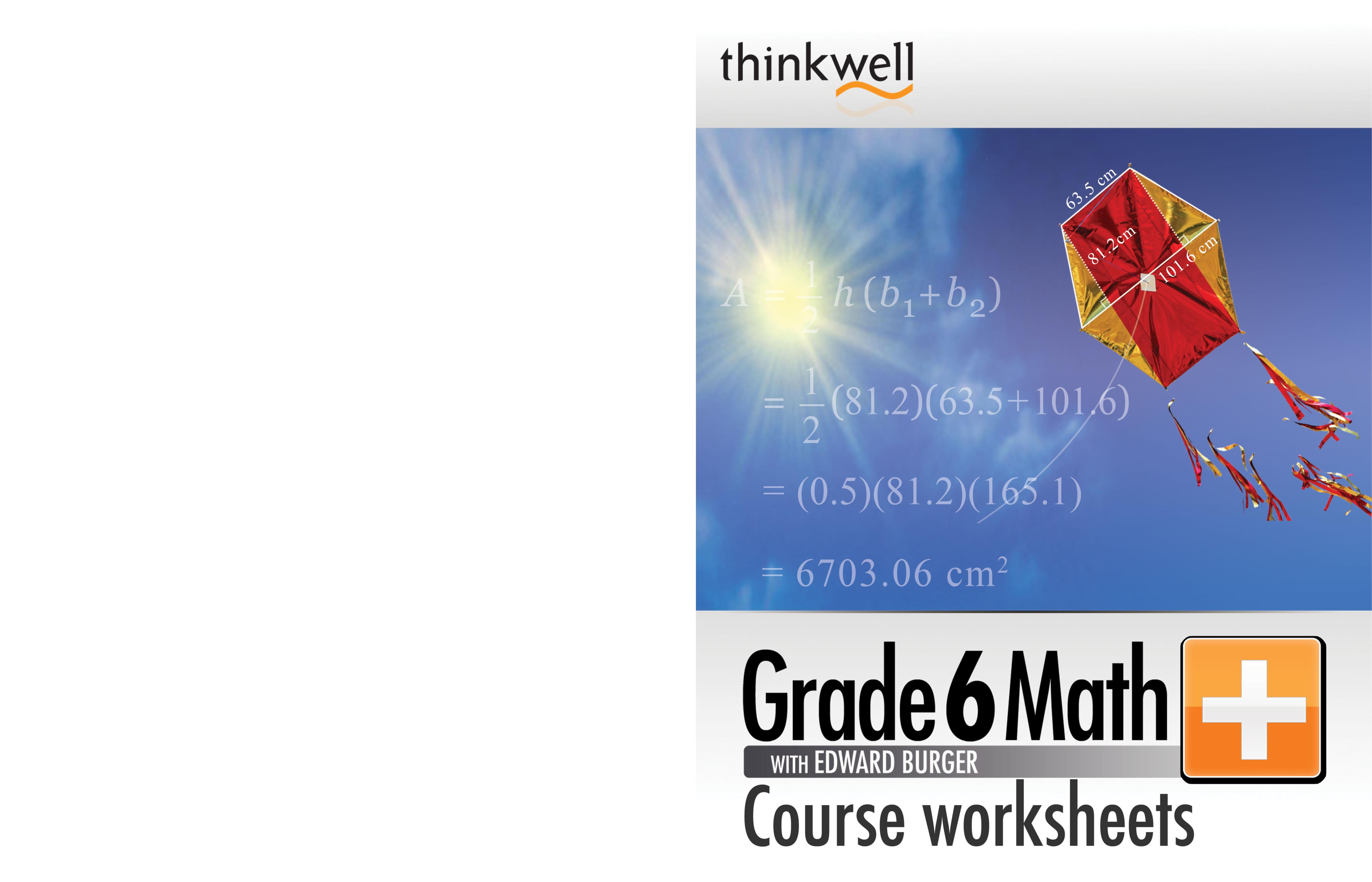 Thinkwell Grade 6 Math Worksheets And Answer Keys By