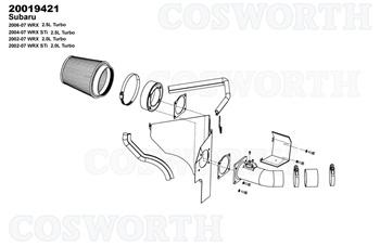 Cosworth Air Intake FOR 01-07 Subaru Impreza WRX STI GDA