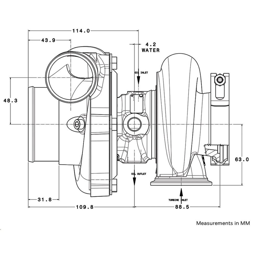 Garrett GTX2867R GEN2 Turbocharger