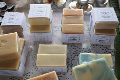 An array of handmade soaps.