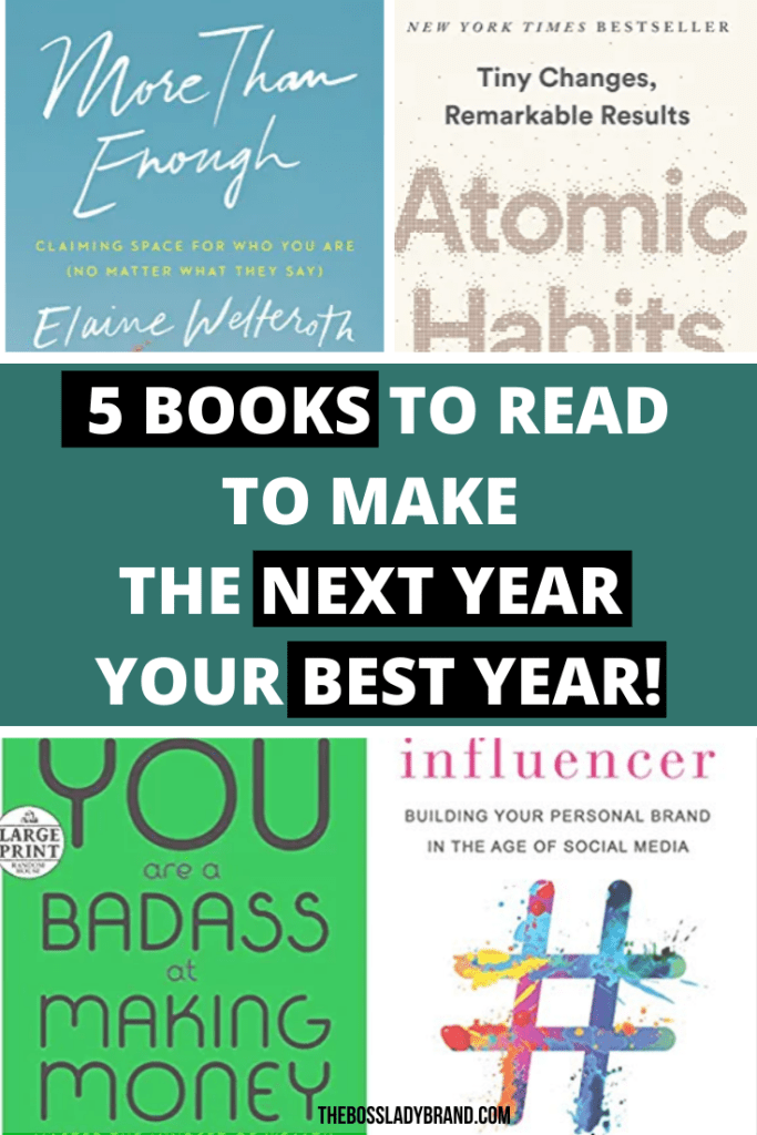 5 Great Books To make your Next Year, Your Best Year. These are some of the best books for Entrepreneurs and anyone who wants to achieve their goals!