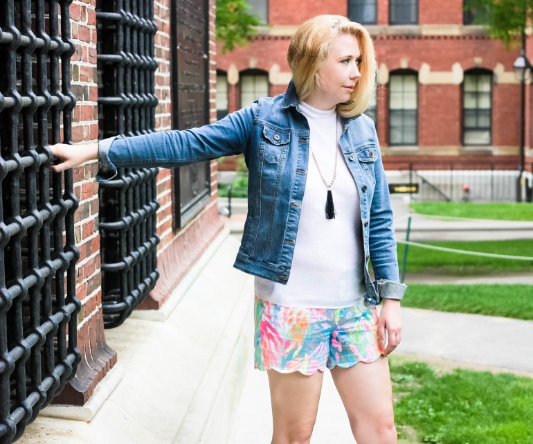 How to style the scallop hem short from Lilly Pulitzer