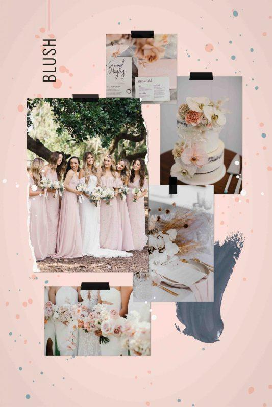 Blush themed wedding inspiration