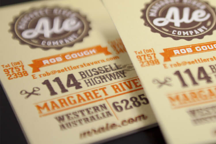 Margaret River Ale Business Cards