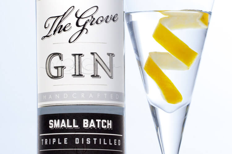 The Grove Experience Gin Label