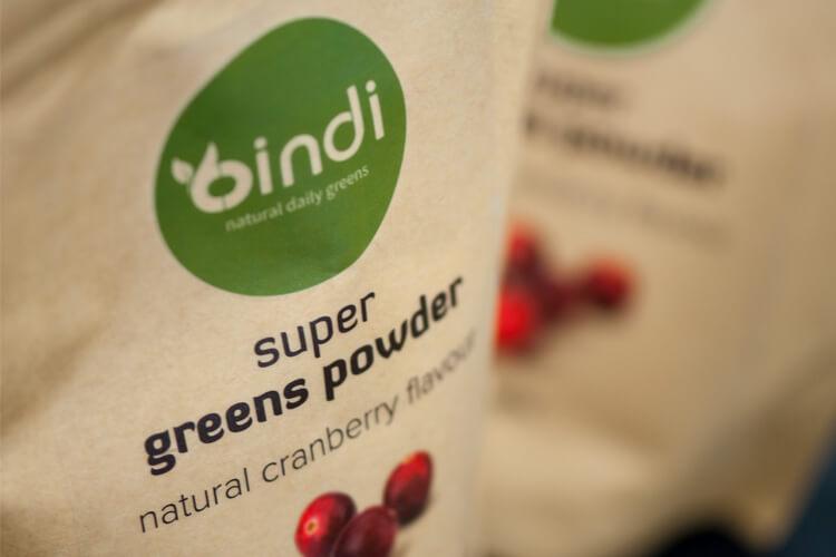 Bindi Super Greens Powder Packaging