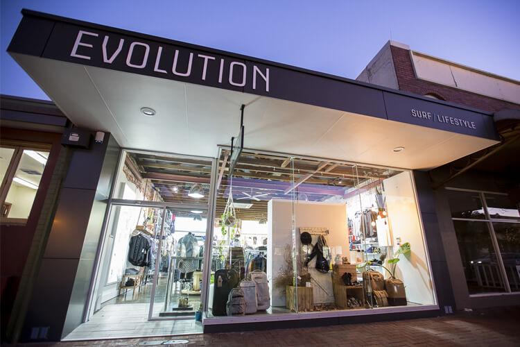 Evolution Bunbury Shop Front