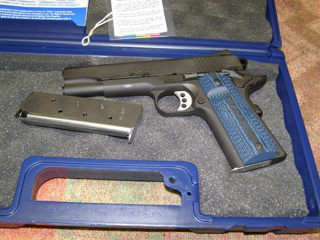 Colt Firearms Competition Series 70 45 Acp Blue Finish 8 Rounds