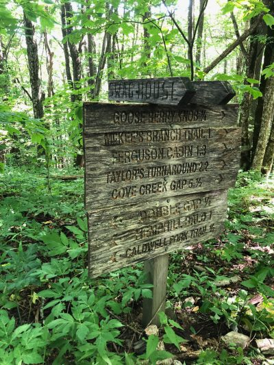 Trail Signs at The Swag