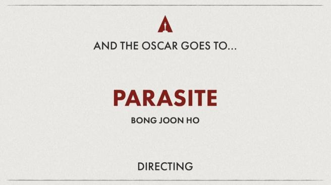 PARASITE - Best Director