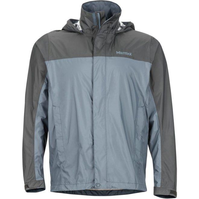 Marmot PreCip Jacket in Steel Onyx/Slate Grey