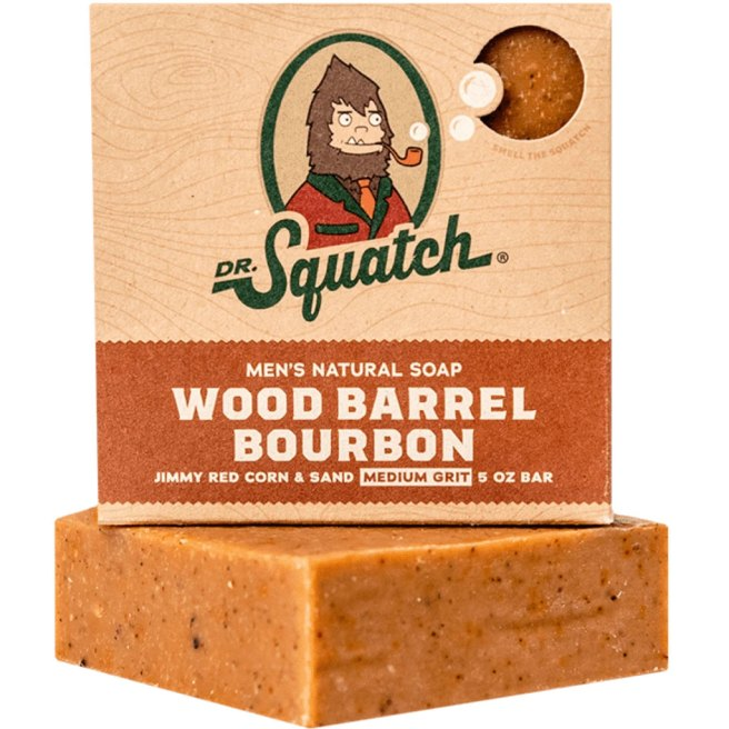 Wood Barrel Bourbon Soap from Dr. Squatch