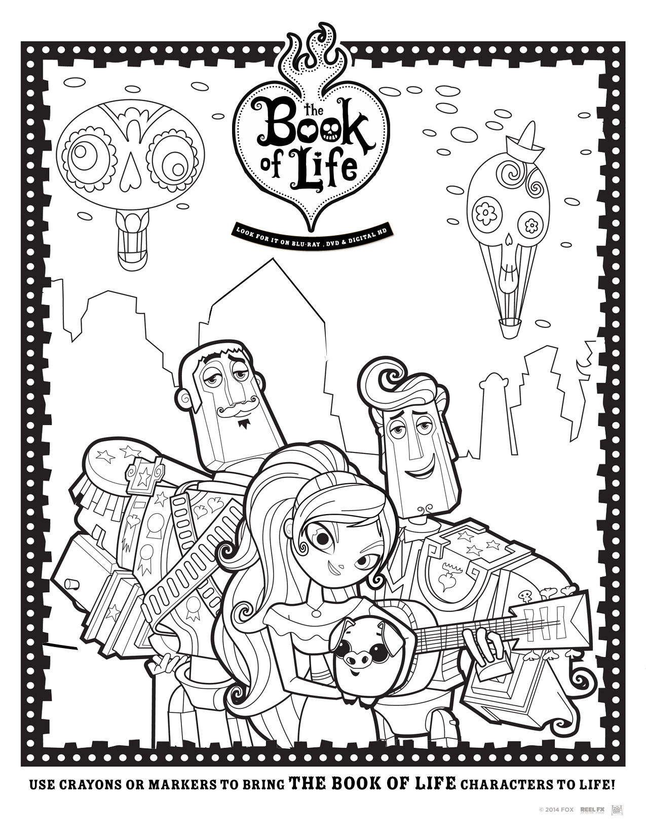 The Book of Life Blu-ray Giveaway + Free Printable