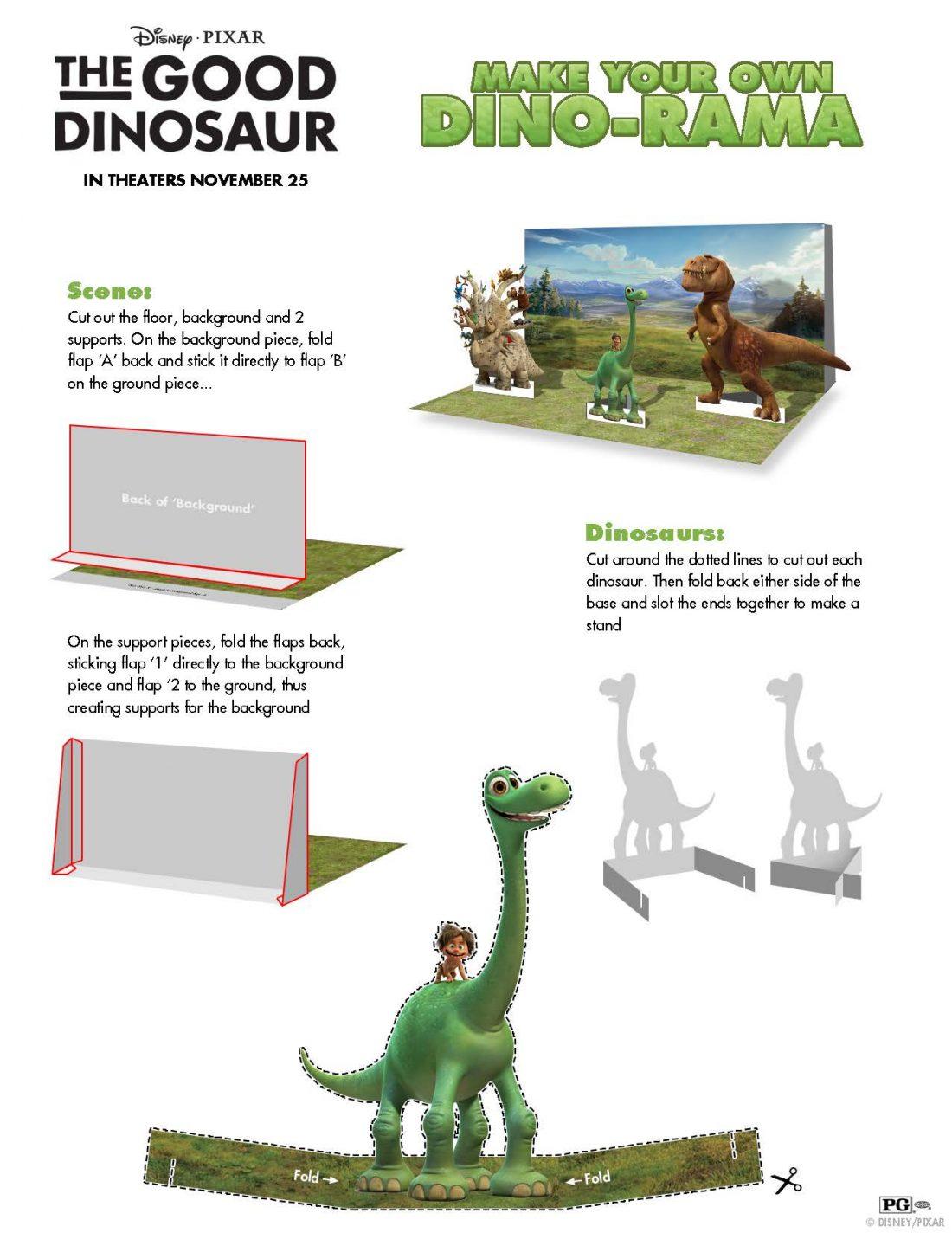 The Good Dinosaur Christmas Printables Advent Calendar