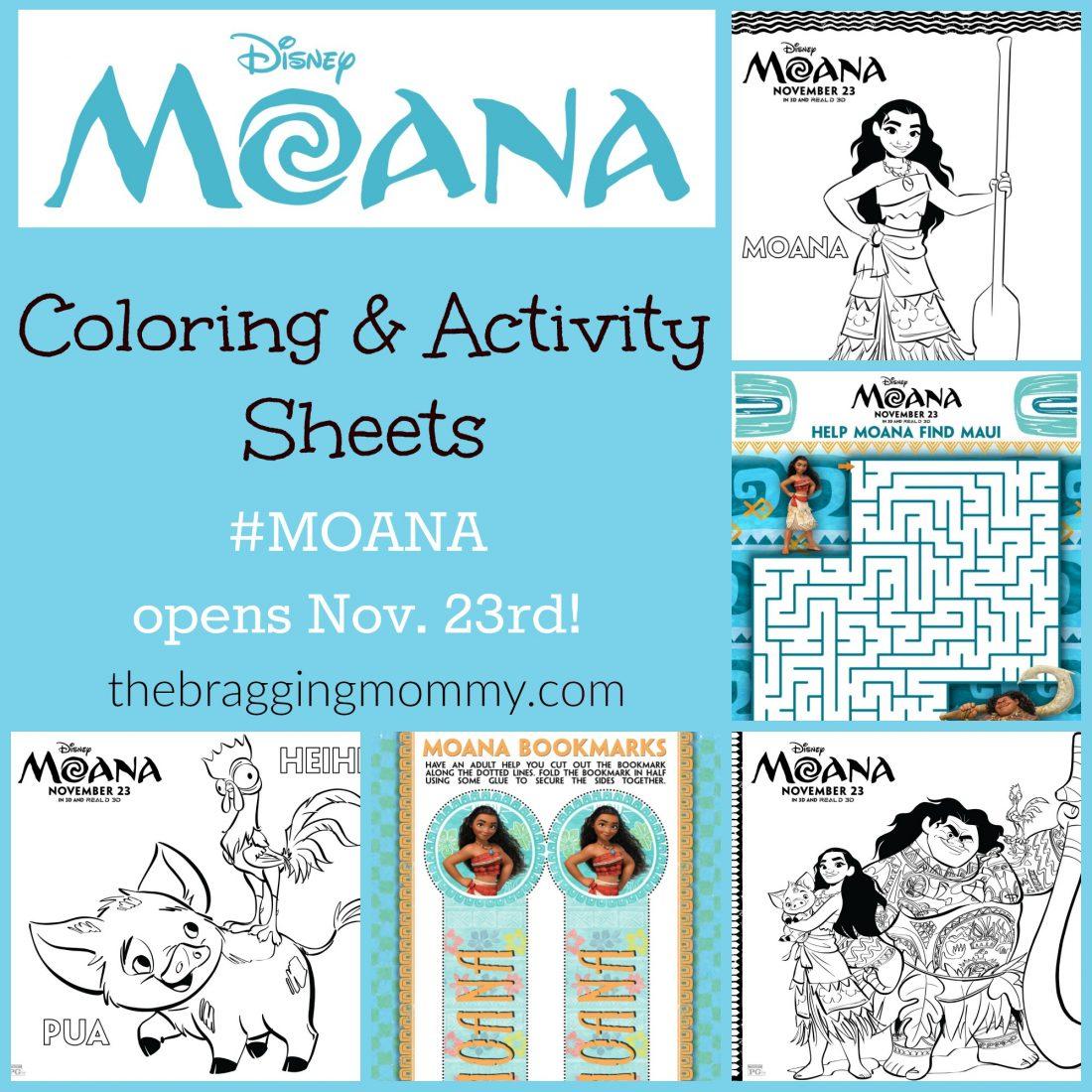 Brand New Moana Printable Activity Sheets Moana Opens In