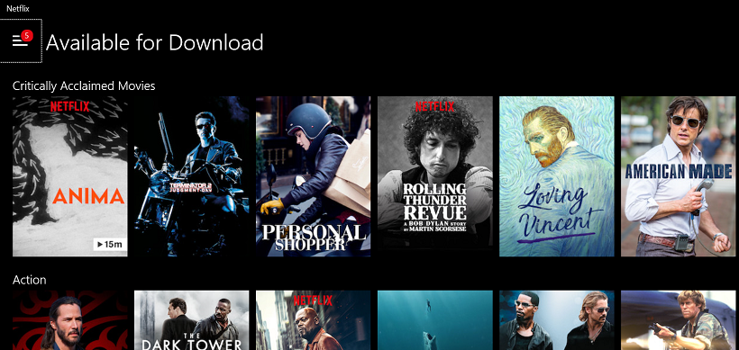 How can you download netflix movies to watch offline?