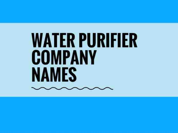 water purifier company names