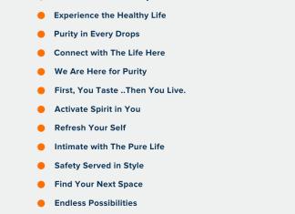 water purifier company slogans