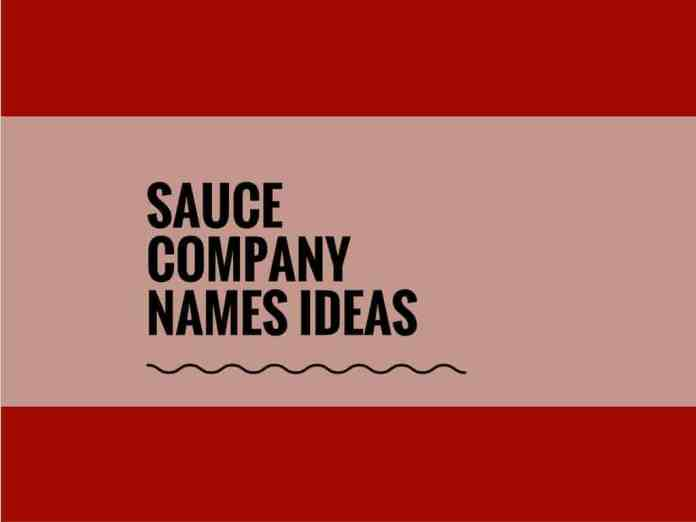 sauce company names