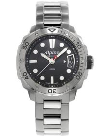 ALPINA Adventure Divers - AL-240LB3V6B, Silver case with Stainless Steel Bracelet