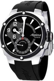 ALPINA Adventure Manufacture Regulator - AL-950LBB4AE6, Silver case with Black Rubber Strap