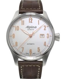 ALPINA Startmeister Automatic - AL-525SCR4S6, Silver case with Brown Leather Strap