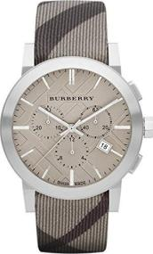 Burberry The City - BU9358 Silver case with Brown Leather Strap