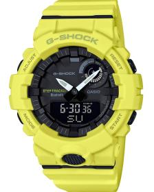 CASIO G-Shock Bluetooth Chronograph - GBA-800-9AER, Yellow case with Yellow Rubber Strap