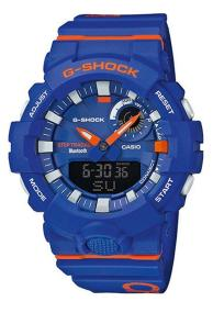 CASIO G-Shock Bluetooth Chronograph - GBA-800DG-2AER, Blue case with Blue Rubber Strap