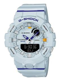 CASIO G-Shock Bluetooth Chronograph - GBA-800DG-7AER, White case with White Rubber Strap