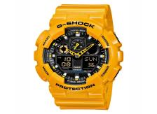 CASIO G-Shock - GA-100A-9AER Yellow case, with Yellow Rubber Strap