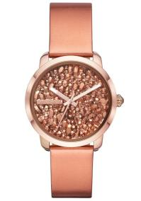 DIESEL Flare Rocks - DZ5583 Rose Gold case with Rose Gold Leather Strap