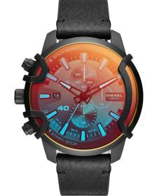 DIESEL Griffed Chronograph - DZ4519 Black case with Black Leather Strap
