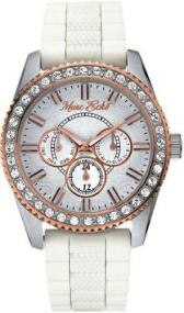 MARK ECKO - E11584G1 Rose Gold Plated Case, with White Rubber strap
